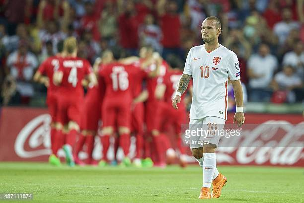 Wesley Sneijderof Holland during the UEFA Euro 2016 qualifying match between Turkey and Netherlands on September 6 2015 at the Konya B#252y#252ksehir...