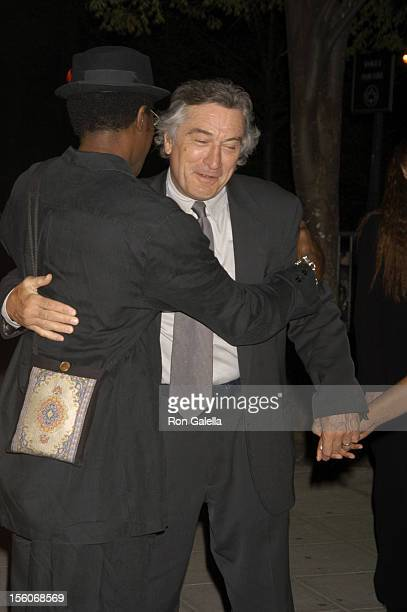 Wesley Snipes and Robert De Niro during 4th Annual Tribeca Film Festival Vanity Fair Party at The State Supreme Courthouse in New York City New York...