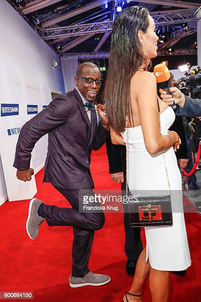 Wesley Snipes and Verona Pooth attend the Bertelsmann Summer Party at Bertelsmann Repraesentanz on September 8 2016 in Berlin Germany