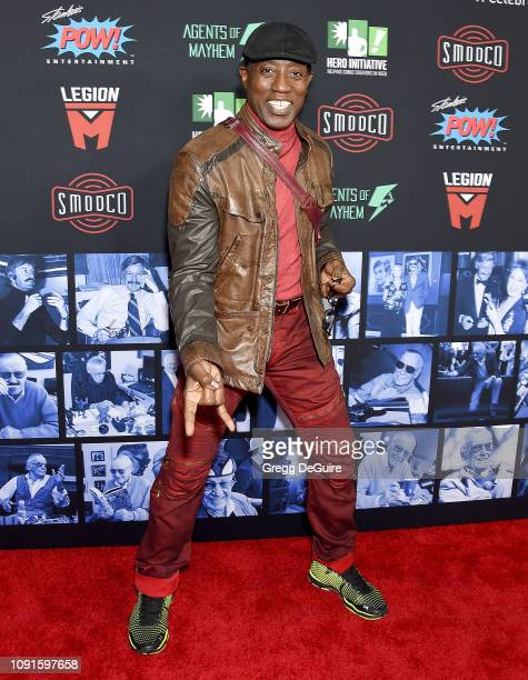 Wesley Snipes arrives at Excelsior A Celebration Of The Amazing Fantastic Incredible And Uncanny Life Of Stan Lee at TCL Chinese Theatre on January...