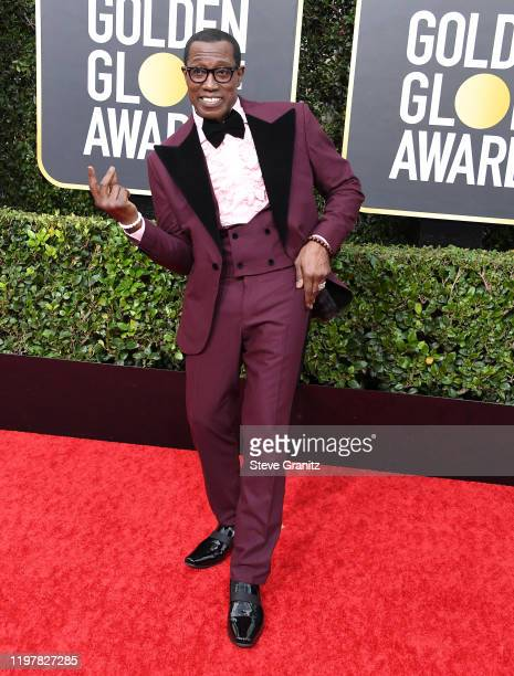 Wesley Snipes arrives at the 77th Annual Golden Globe Awards attends the 77th Annual Golden Globe Awards at The Beverly Hilton Hotel on January 05...