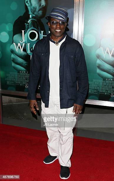 Wesley Snipes attends Summit Entertainment's premiere of 'John Wick' at the ArcLight Theater on October 22 2014 in Hollywood California
