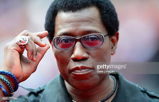 Wesley Snipes attends The Expendables 3 World Premiere at the Odeon Leicester Square on August 4 2014 in London England The Expendables 3 is released...