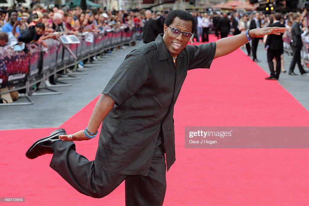 Wesley Snipes attends 'The Expendables 3' World Premiere at the Odeon Leicester Square on August 4, 2014 in London, England. The Expendables 3 is released on August 14, 2014.