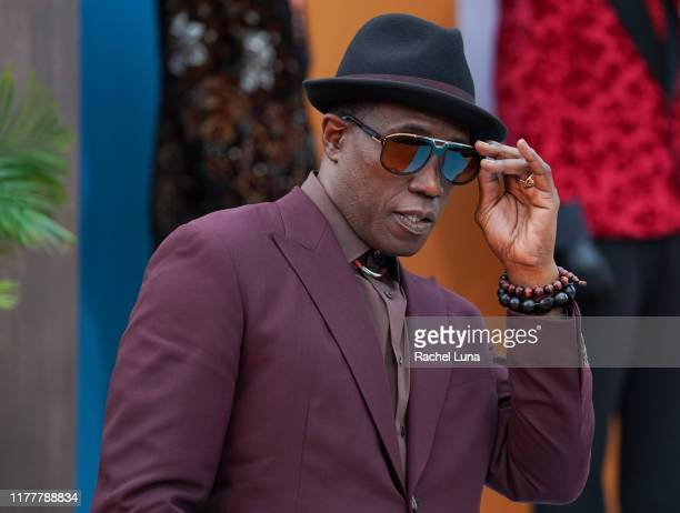 Wesley Snipes attends the LA premiere of Netflix's Dolemite Is My Name at Regency Village Theatre on September 28 2019 in Westwood California