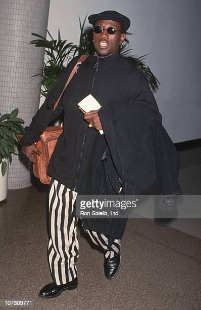 Wesley Snipes during Wesley Snipes Sighted at Los Angeles International Airport February 21 1994 at Los Angeles International Airport in Los Angeles...