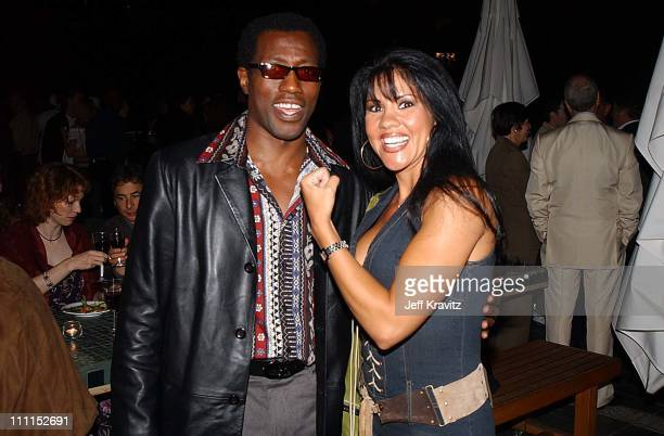 Wesley Snipes Mia St John during Undisputed Premiere by Miramax Films at Mann Festival Theater in Los Angeles California United States