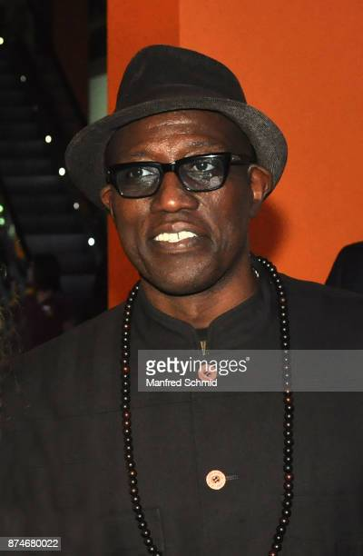 Wesley Snipes poses during 'The Recall' premiere at UCI Kinowelt Millennium City on November 15 2017 in Vienna Austria