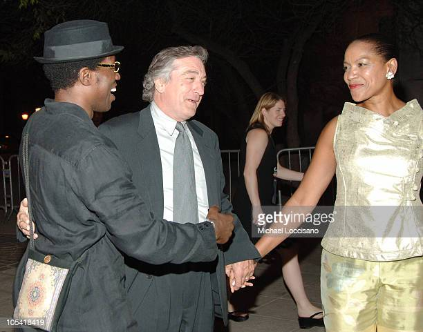 Wesley Snipes Robert De Niro and Grace Hightower during 4th Annual Tribeca Film Festival Vanity Fair Party at New York Supreme Court in New York City...