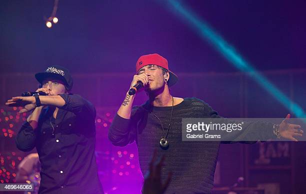 Wesley Stromberg and Drew Chadwick of Emblem3 perform at Rosemont Theatre on February 15 2014 in Chicago Illinois