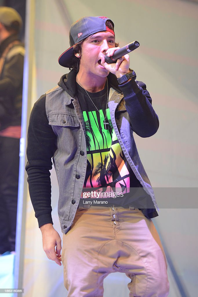 Wesley Stromberg of Emblem3 performs at BB&T Center on October 29, 2013 in Sunrise, Florida.