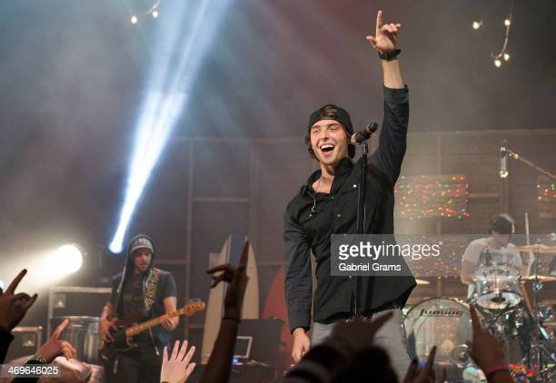 Wesley Stromberg of Emblem3 performs at Rosemont Theatre on February 15 2014 in Chicago Illinois