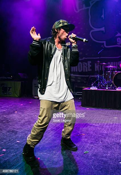 Wesley Stromberg of Emblem3 performs at the 2013AMP 987 Kringle Jingle at The Fillmore on December 15 2013 in Detroit Michigan