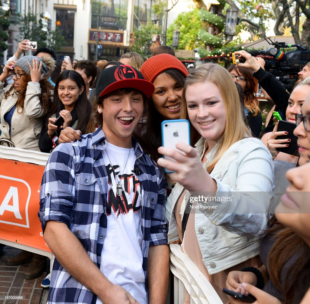 Wesley Stromberg of Emblem3 visits 'Extra' at The Grove on November 26, 2012 in Los Angeles, California.