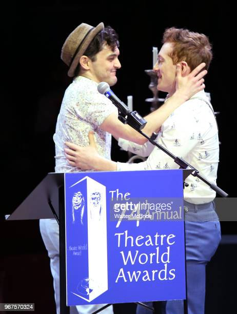 Wesley Taylor and Ethan Slater during the 74th Annual Theatre World Awards at Circle in the Square on June 4 2018 in New York City