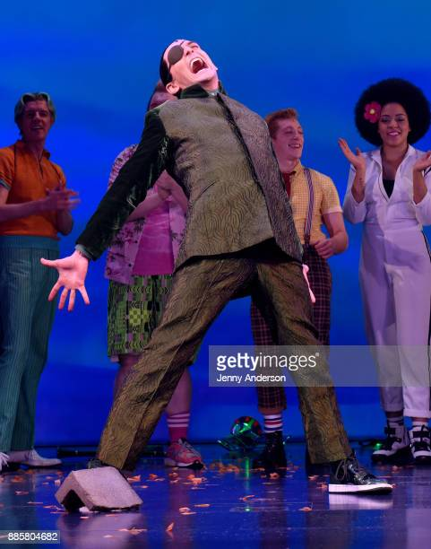 Wesley Taylor poses onstage during opening night of Nickelodeon's SpongeBob SquarePants The Broadway Musical at Palace Theatre on December 4 2017 in...