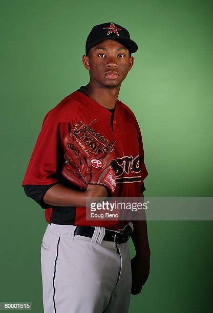 Wesley Wright of the Houston Astros poses during Spring Training Photo Day at Osceola County Stadium on February 25 2008 in Kissimmee Florida