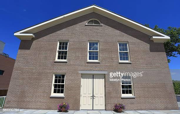 wesleyan chapel-seneca falls - methodist church stockfoto's en -beelden