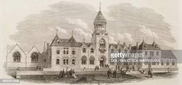 Wesleyan Methodist College Headingley near Leeds United Kingdom illustration from the magazine The Illustrated London News volume LIV March 27 1869