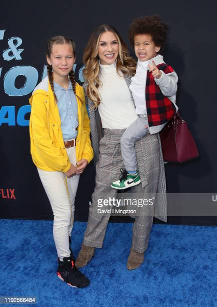 Weslie Fowler Allison Holker and Maddox Laurel Boss attend the premiere of Netflix's Fast and Furious Spy Racers at Universal Cinema AMC at CityWalk...