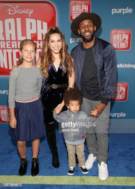 Weslie Fowler Allison Holker Maddox Laurel Boss and Stephen tWitch Boss attend the World Premiere of Disney's RALPH BREAKS THE INTERNET at the El...