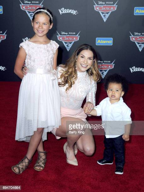 Weslie Fowler dancer Allison Holker and Maddox Laurel Boss attend the World Premiere of Disney and Pixar's 'Cars 3' at Anaheim Convention Center on...