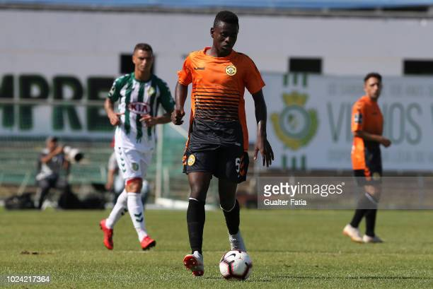 Wesly Decas of CD Nacional in action during the Liga NOS match between Vitoria FC and CD Nacional at Estadio do Bonfim on August 26 2018 in Setubal...