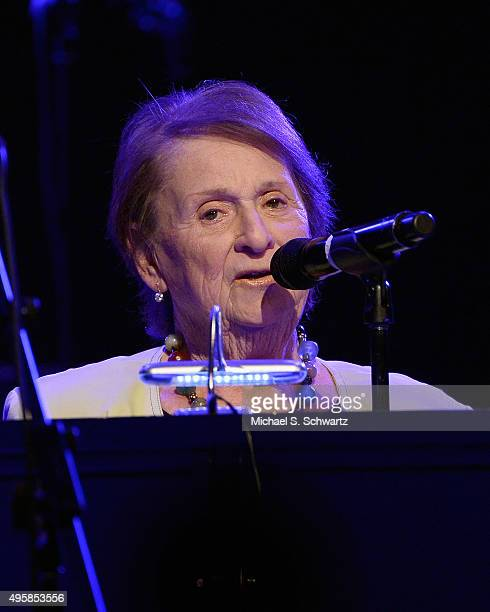 WeSpark Founding Trustee Charlene Sperber speaks during her appearance at the weSpark Cancer Support Center Benefit Concert 'An Evening with Michael...