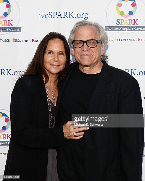 weSPARK'S Marlene McGuirt and Musician Steve Porcaro attend the weSpark Cancer Support's 15th Anniversary Celebration Comedy Night at Skirball...