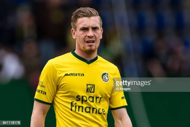 Wessel Dammers of Fortuna Sittard during the Jupiler League match between Fortuna Sittard and Helmond Sport at the Fortuna Sittard Stadium on April...