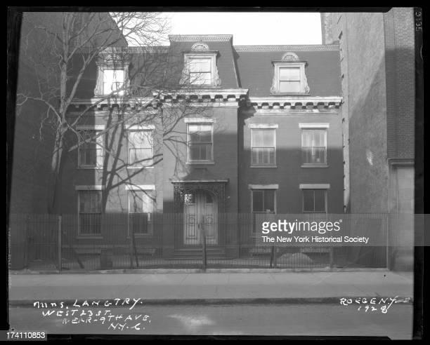 West 23rd Street 361 W 23rd Street former home of Lillie Langtry New York New York 1928