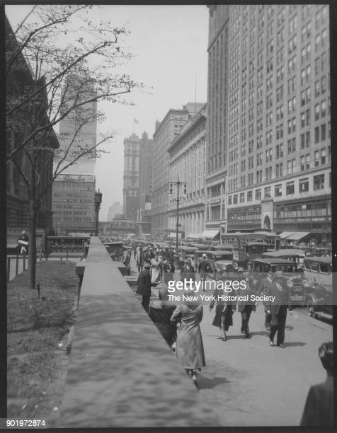 West 42nd Street between Fifth and Sixth Avenues New York Public Library New York New York 1929