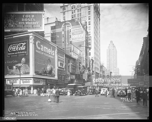 West 42nd Street looking west from Seventh Avenue New York New York 1934
