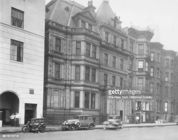 West 58th Street south side just west of Fifth Avenue Bergdorf Goodman at left New York New York 1929