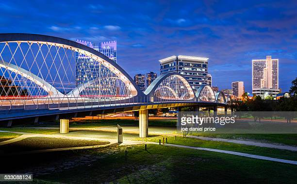 west 7th street bridge, fort worth, texas, america - texas stock pictures, royalty-free photos & images