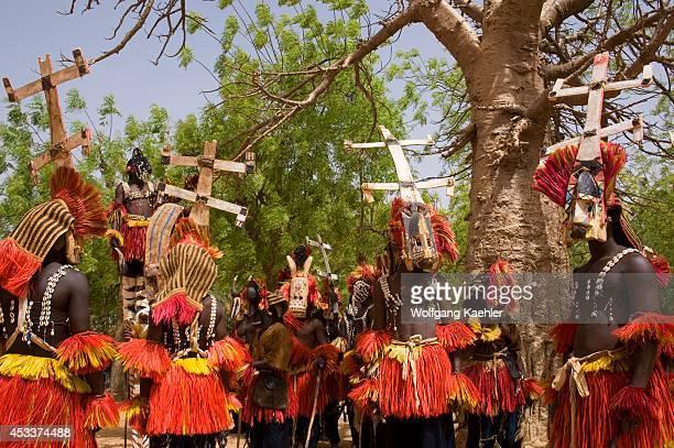 West Africa Mali Dogon Country Sangha Village Dogon Dances