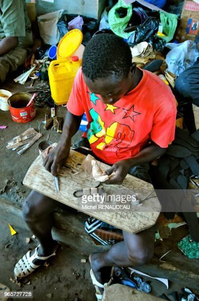 West Africa Senegal Sine Saloum Market Kaolack Afrique de l'Ouest Senegal Sine Saloum Le marche de Kaolack fabrication de grisgris