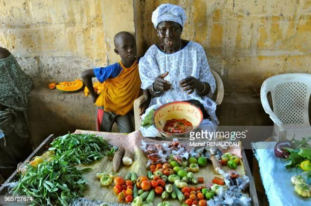 West Africa Sine Saloum Village Toubakouta Afrique de l'Ouest Sine Saloum Village de Toubakouta