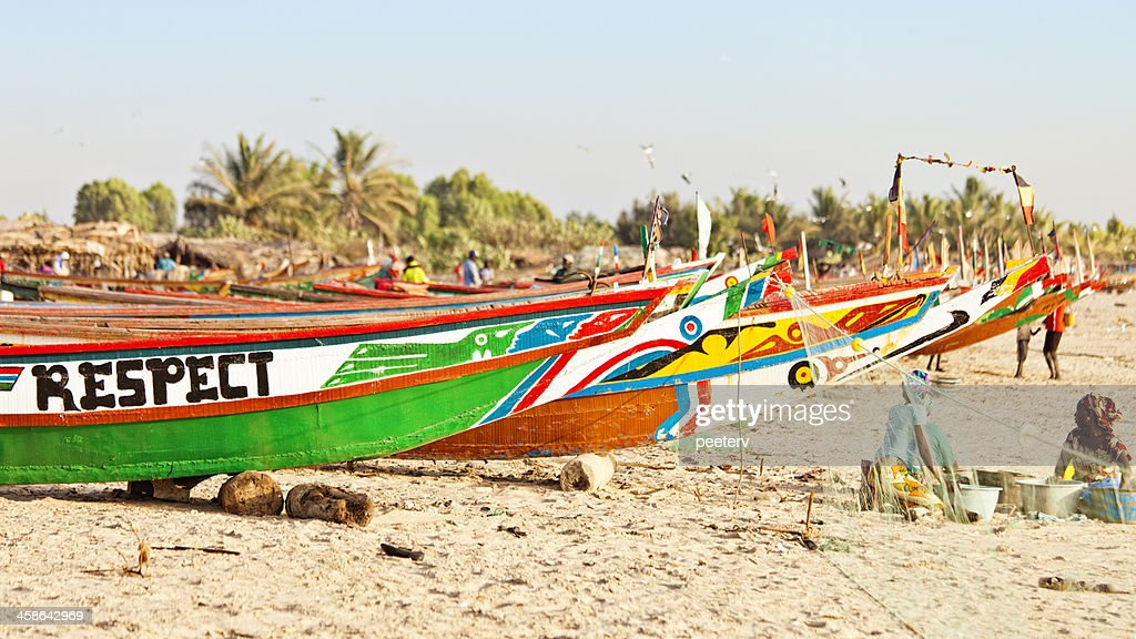 West African fishing boats. : Stock Photo