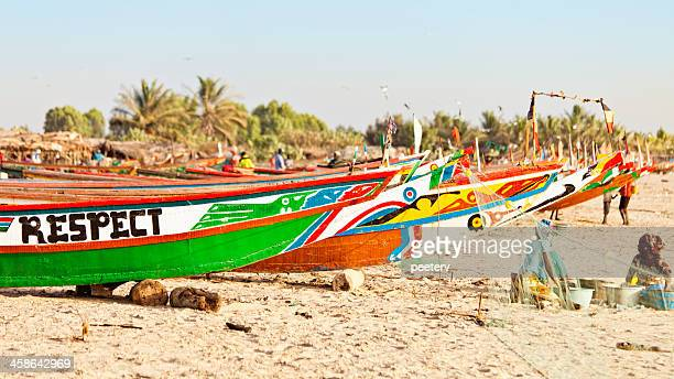 West African fishing boats.