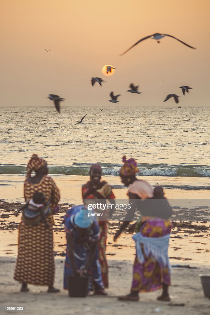 West African women in discussion. : Stock Photo