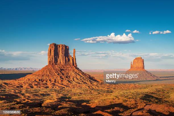 West and East Mitten Butte Monument Valley Arizona USA