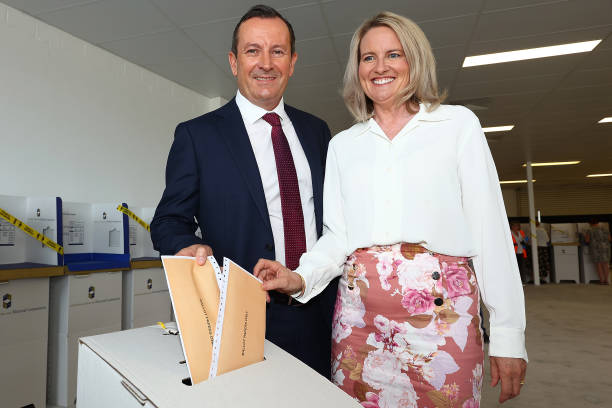 AUS: Premier Mark McGowan Votes Ahead Of 2021 Western Australian State Election