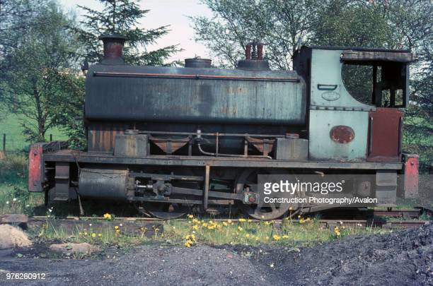 West Ayr No.11, an Andrew Barclay 0-4-0ST of 1919 awaits mechanical attention. She was caught against a carpet of dandelions at the Mauchline Coal...