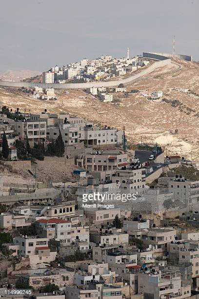 west bank barrier wall in jerusalem, israel - west bank stock pictures, royalty-free photos & images