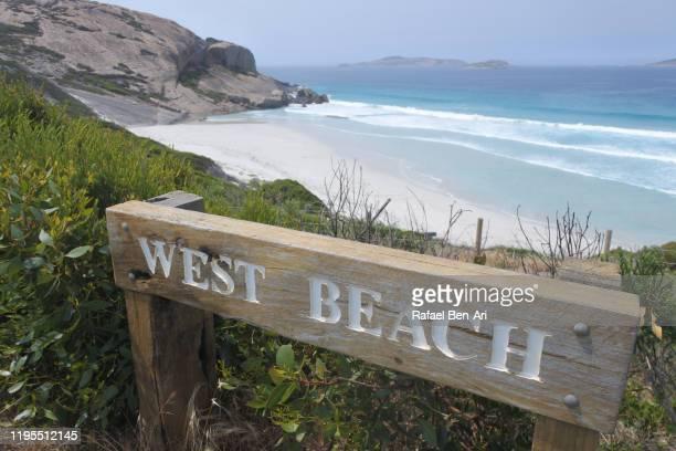 west beach on esperance great ocean drive western australia - rafael ben ari imagens e fotografias de stock