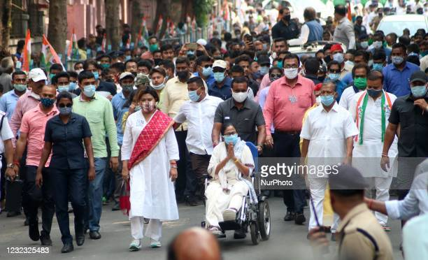 West Bengal Chief Minister & Trinamool Congress Supremo Mamata Banerjee participated in a massive road show ahead of the 5th phase of the state...