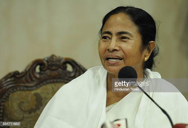 West Bengal Chief Minister Mamata Banerjee addresses her first press conference at Nabanna Howrah on May 27 2016 in Kolkata India Mamata Banerjee was...