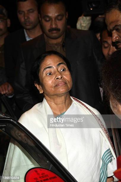 West Bengal chief minister Mamata Banerjee attends a press briefing after a meeting with Prime Minister Manmohan Singh at 7 Race Course Road on...