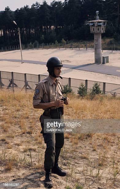 The Military Base Of The French National Defense Berlin ouest juindécembre 1975 la vie d'une garnison française un soldat en tenue militaire de garde...